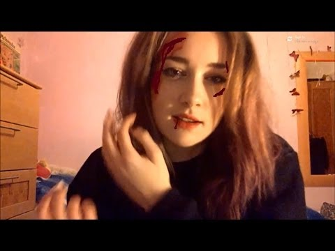 ☠ASMR HALLOWEEN FACEPAINTING+POPPING CANDY☠
