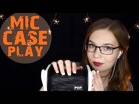 Mic Case Play w/Long Nails 💚 Tapping and Scratching - on Case and Ears 💚 No Talking Binaural HD ASMR