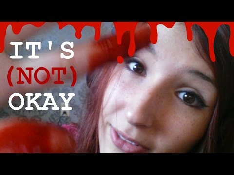 SPOOPY ASMR - EVERYTHING WILL (not) BE OKAY ~ BLOOD, Face Stroking, Positive Affirmations ~