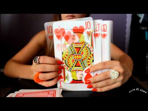 ASMR giant playing cards
