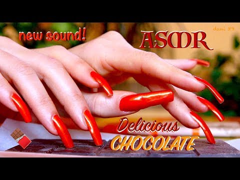 🧡 Sweetie-choco ASMR 🍫 TAPPING + some SCRATCHES 🧡 Extra Dark CHOCOLATE! 100% Delicious! 🧡 😍