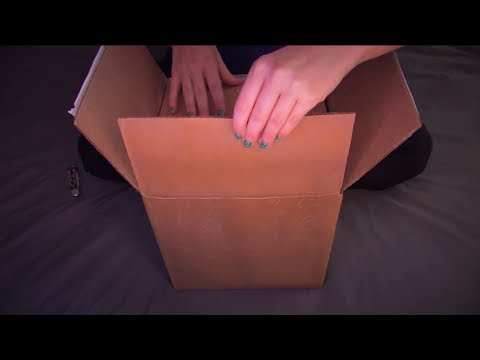 RE-UPLOAD - Unboxing an ASMR surprise! :) Soft spoken, crinkling, sticky fingers, tapping