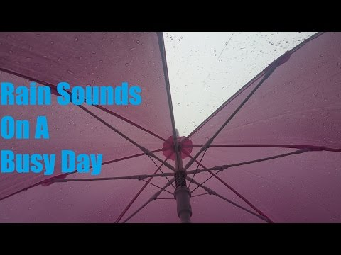 Rain Sounds On A Busy Day