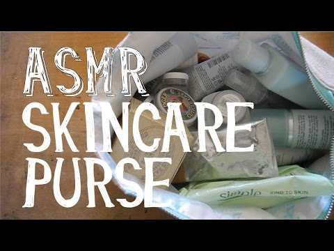 ASMR Going through Skincare Purse - Whispering - LITTLE WATERMELON