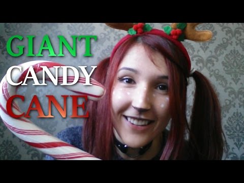ASMR - MOUTHSOUNDS ~ Share a GIANT Candycane w/ a Dumb Reindeer ~