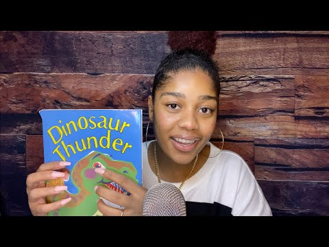 ASMR- Tracing a Children's Book ✨🦖 (Gentle Tapping + Page Turning)