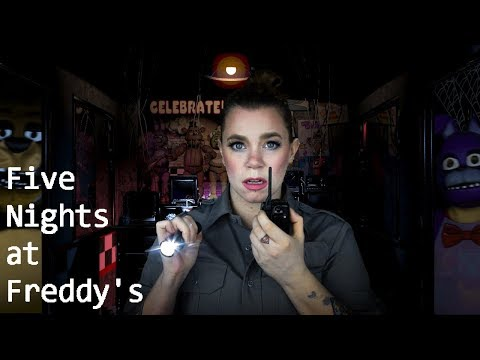 ASMR - Five Nights at Freddy's Role Play - (Page Turning, Crinkling, Tapping)