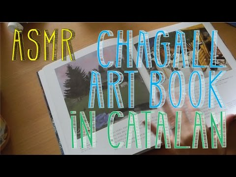 ASMR Chagall Art Book | Page Turning | Catalan Whispering | LITTLE WATERMELON