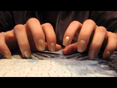 1st video, nail tapping on a puzzle, ASMR