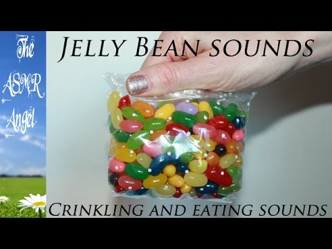 ASMR Jelly Bean Bag - Chewing Sounds and Soft Crinkly Plastic (no talking)