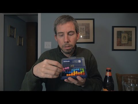 ASMR & Beer #52 - Longboard Island Lager, BBQ Beef Jerky & IQ Fit Puzzle