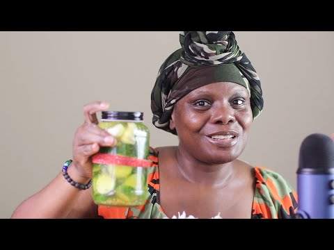 MAKING HOME MADE PICKLES ASMR CARVING PEACHES POTATOES
