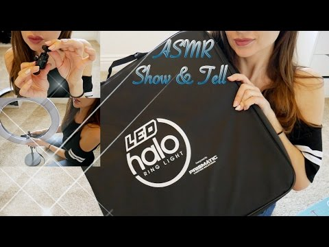 ASMR Show and Tell *Prismatic LED Halo Ring Light