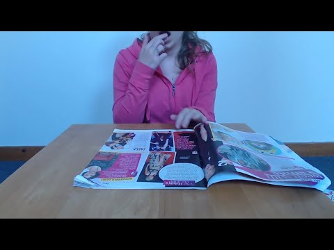 ASMR Finger Licking With Magazine Page Turning (No Talking) Intoxicating Sounds Sleep Help Relax