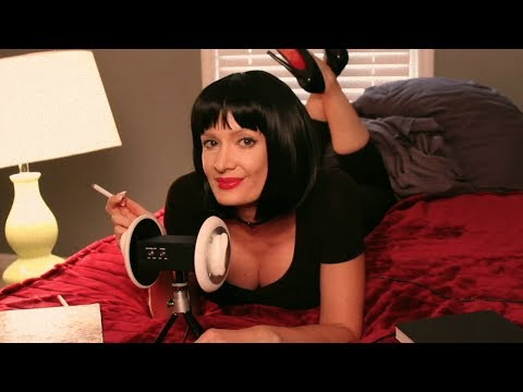 ASMR Pulp Fiction Role Play (Whispered Jokes Ear to Ear)