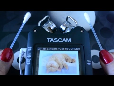 ASMR New Mic Ear Cleaning Test Sounds w/ Tascam Dr-40