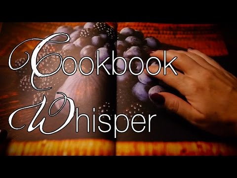 Cookbook Relaxation | ASMR Whisper | Page Turning | Scratching | Tapping