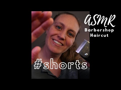ASMR Barbershop Haircut #Shorts   Electric Clippers and Scissor Sounds