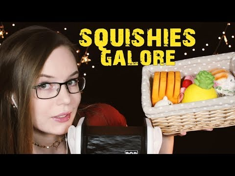 SATISFYING ✨ Squishies Show&Tell, Ear Rubbing ✨ Tapping, Sticky Fingers ✨ Whispered Binaural HD ASMR