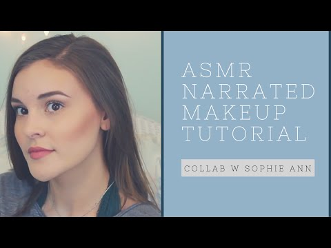 ASMR Narrated Makeup Tutorial (close-up whispering and mouth sounds)