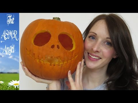 Halloween ASMR Pumpkin Carving with soft speaking