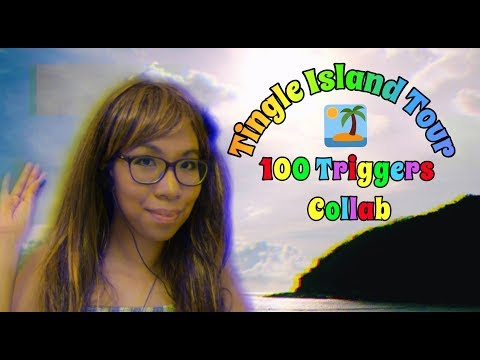 ASMR: Tingle Island Tour - 100 Triggers in 1 Hour 🏝️💯 | 15 ASMRtists! Collaboration