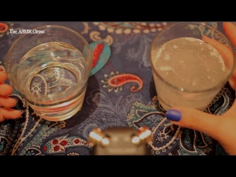 ASMR Binaural Fizz & Tapping on Glass . Close Up Sounds & Visuals