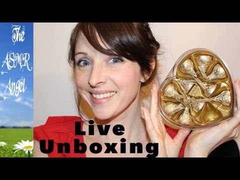 ASMR Unboxing, Eating and Whispering Video - Food from the USA