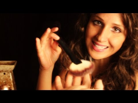 ★BRUSHING your HAND by SOOTHING psychic★ Palm reading *binaural* ASMR role play  for relaxation