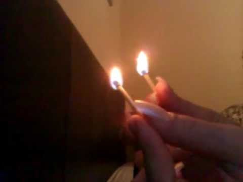 ASMR video : Playing with matches and fire