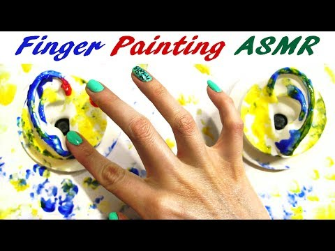 Watch Me Finger Paint My 3D ASMR Microphone! Tapping Sounds Mostly No Talking