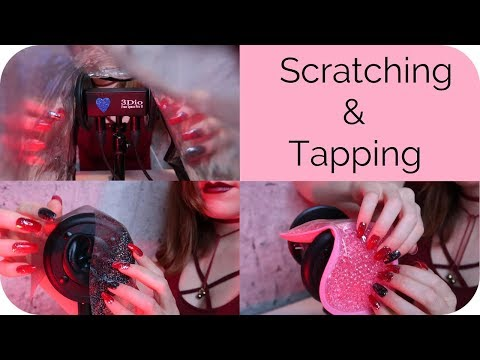 ASMR 🔺 Intense Vinyl Scratching and Tapping for Tingles (No Talking) 🔻