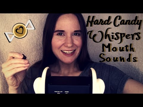 ASMR~32 Minutes Hard Maple Candy~Ear Rubbing~Whispers~Cat Purrs~
