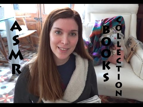 ASMR Showing My Children's Book Collection -Thick Pages -Tapping- Softly Speaking in English
