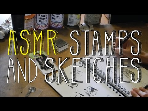 ASMR Stamps and Sketches | No Talk | LITTLE WATERMELON