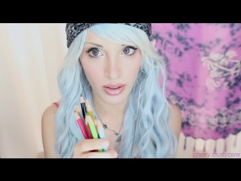 ASMR - Ear To Ear | kissing | Colored pencils | Coffee | nail file |