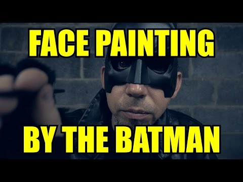 Face Painting by The Batman [ ASMR ]