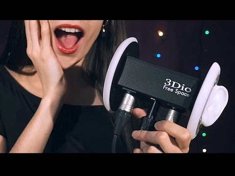 ASMR I GOT A 3DIO!! Whisper, Mouth Sounds, Tapping 😍