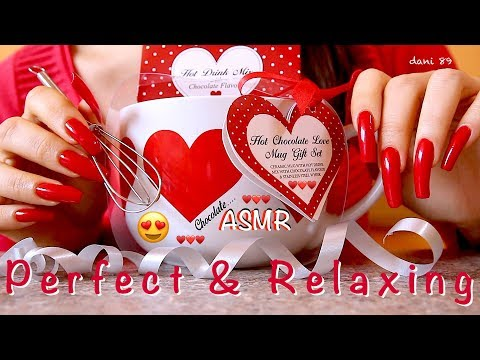 ❤️ Relaxing sounds after Christmas 😍 🎧 Perfect ASMR with RED TINGLES ❤️ Tapping a lovely MUG ♥️