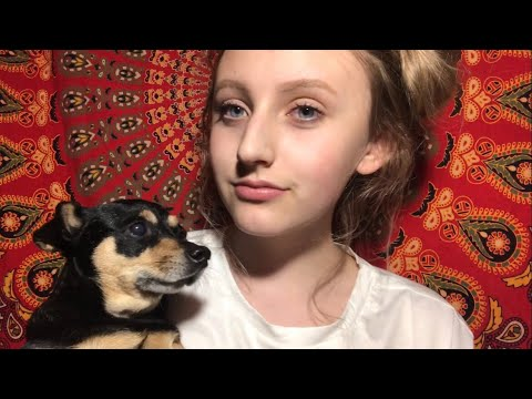 asmr positive affirmations and tracing! ft my dog, piper