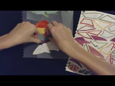 ASMR | Creating Sticker-By-Number Pictures (Whisper)