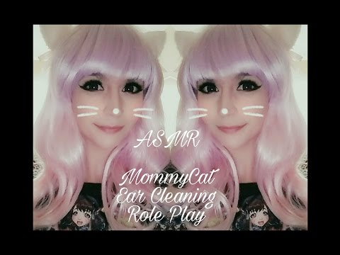 ASMR Loving Ear Cleaning with MommyCat . Caring Whispers . Personal Attention Role Play