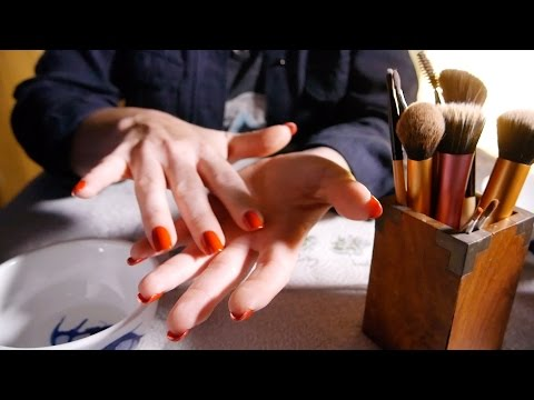 Relaxing Brush Cleaning   ASMR Hands, Slight Tapping & Tinkles