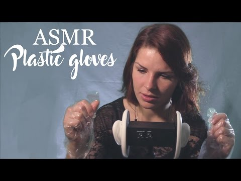 ASMR - Plastic gloves (crinkling) with 3dio