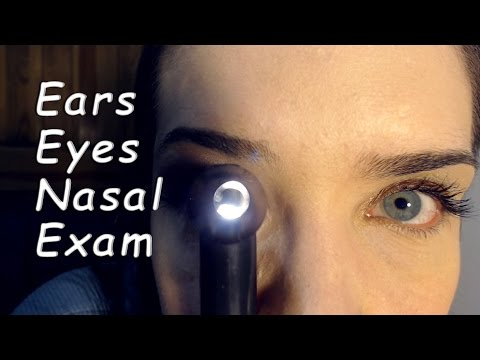 ASMR Medical RP - Ear Cleaning, Eye and Nasal Check - Gloves
