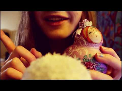 "~ ASMR ~ Fiddling with Matryoshka ""Babushka"" Dolls ~ wooden tapping and scratching sounds ~"