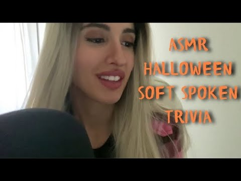 My First Soft Spoken ASMR - Halloween Trivia Questions & Answers with Tablet Tapping 🧟‍♀️🎃👻🧡🖤