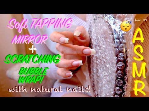 🎧 intense ASMR EARGASM! 😍 ✶ clean nails TAPPING MIRROR + SCRATCHING BUBBLE WRAP! 😴  ↬ super tingly ↫