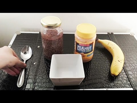 🍌 ASMR My Favourite Breakfast! 🍌 (Overnight oats with bananas and peanut butter) ☀365 Days of ASMR☀