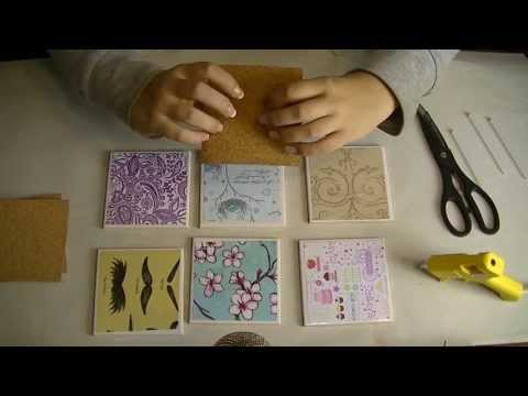 Let's Make Do It Yourself Gift Tile Coasters for ASMR, Relaxation, and Sleep